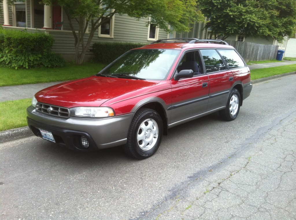 1996 subaru legacy outback red