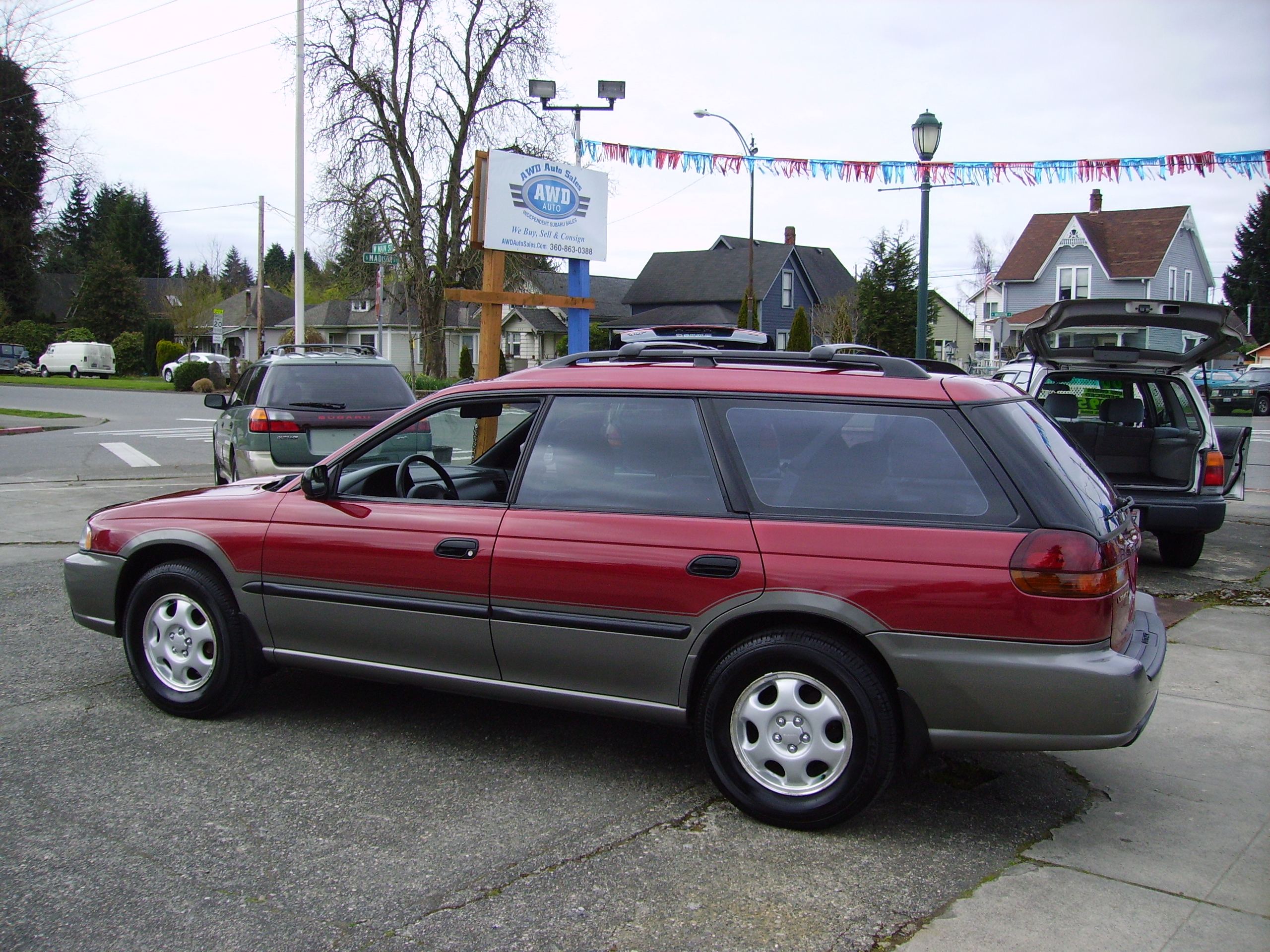1997 subaru outback in red » awd auto s